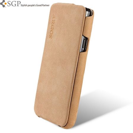 low priced 02618 0586a SGP Argos Series Leather Case for Samsung Galaxy S2 - Brown