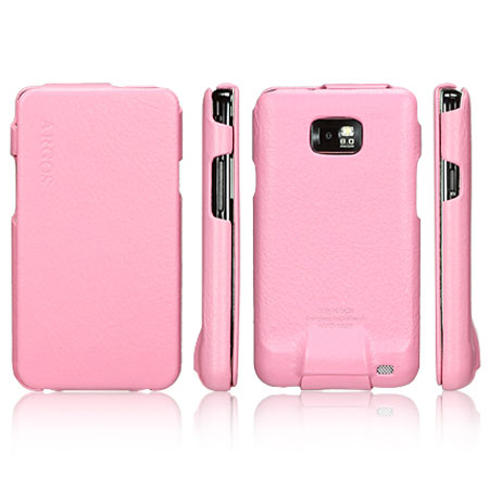 info for 5ce32 9876f SGP Argos Series Leather Case for Samsung Galaxy S2 - Pink