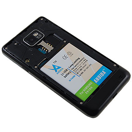 andida extended battery for samsung galaxy s2 2000mah. Black Bedroom Furniture Sets. Home Design Ideas