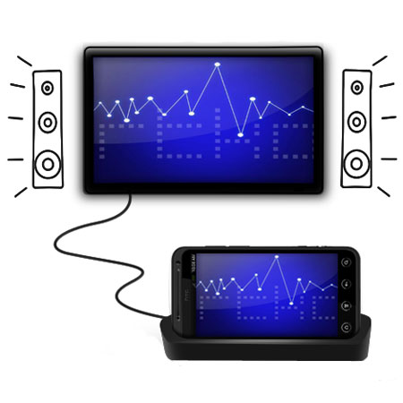 HTC EVO 3D Desktop Sync and Charge Cradle With HDMI Out