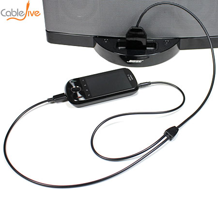 CableJive dockBoss+ Smart USB and Audio Adapter Cable for Apple 30 Pin Docks