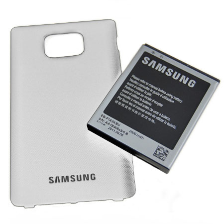 Genuine Samsung Extended Battery Kit for Galaxy S2 - 2000mAh - White