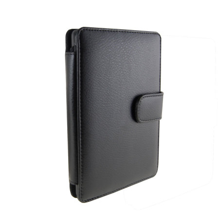 Leather Style Wallet Case for Kindle / Paperwhite / Touch  - Black