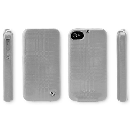 Zenus Masstige Mono Check Folder Series for iPhone 4S/4 - Cyber Silver
