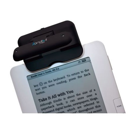 Kandle II by Ozeri Clip-On Reading Light for Amazon Kindle - Black