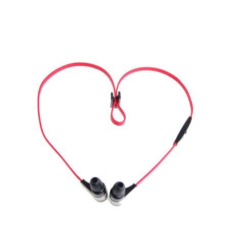 Novero Rockaway Stereo Bluetooth Headset - Black/Red