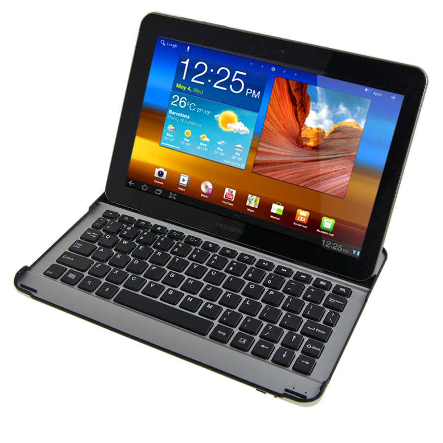 metal keyboard for the samsung galaxy tab 10 1. Black Bedroom Furniture Sets. Home Design Ideas
