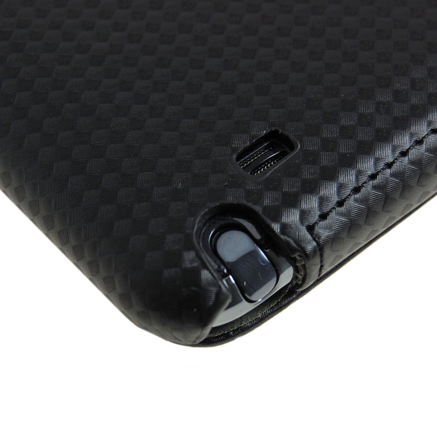 Slimline Carbon Fibre Style Flip Case for Samsung Galaxy Note