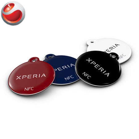 Sony NFC SmartTags Blue Black White Red