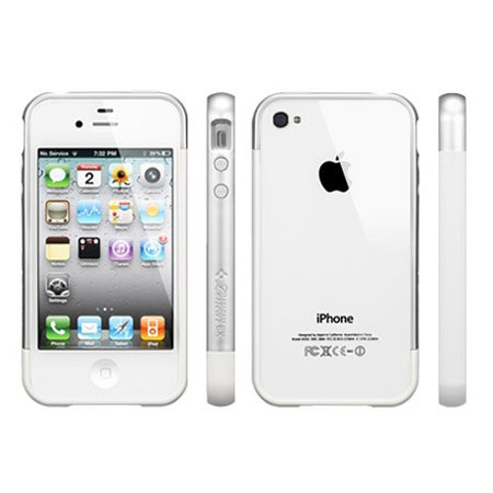 purchase cheap af077 dee38 Spigen iPhone 4/4S Case Linear EX Meteor Series - Clear/White/Silver