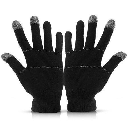 Touch Tip Gloves For Capacitive Touch Screens - Black