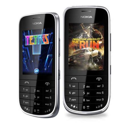 Sim Free Nokia Asha 203 - Dark Grey