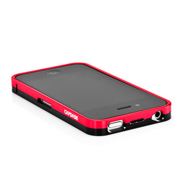 Capdase Alumor Bumper for iPhone 4S / 4 - Red / Black