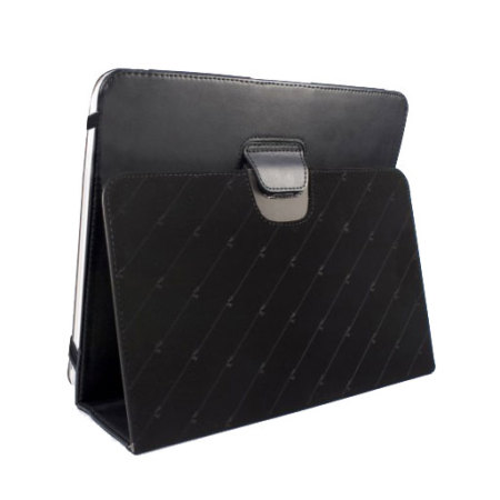 Tuff-Luv Type View Series Faux Leather Case for iPad 4 / 3 - Black