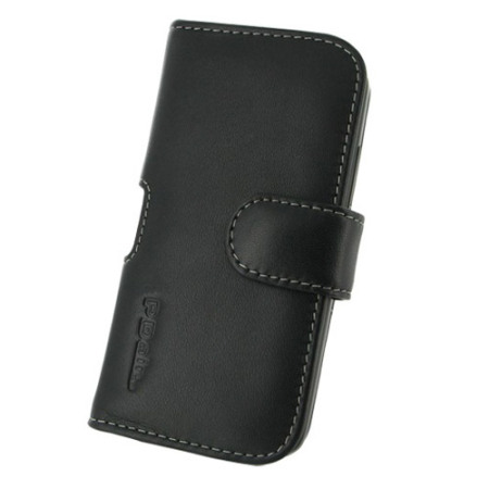 PDair Horizontal Leather Pouch Case for HTC One X and XL - Black