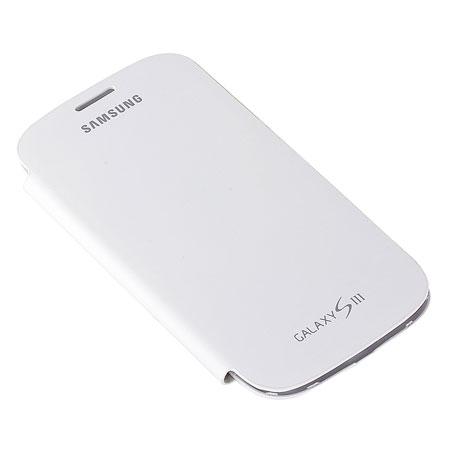 Genuine Samsung Galaxy S3 Flip Cover - Marble White - EFC-1G6FWECSTD