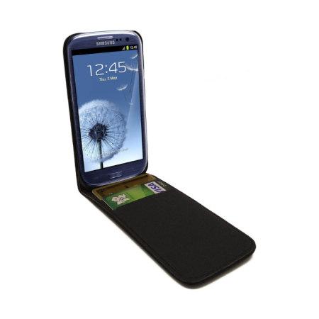 Samsung Galaxy S3 Flip Case in Black