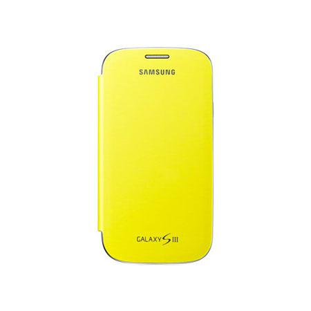 Genuine Samsung Galaxy S3 Flip Cover -Lemon Yellow  - EFC-1G6FYECSTD