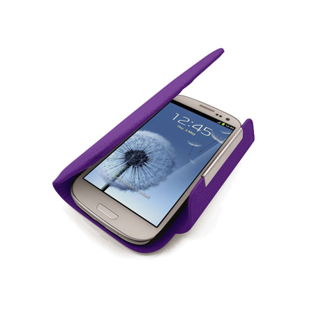 pick up 97908 4496b Leather Style Wallet Case for Samsung Galaxy S3 - Purple