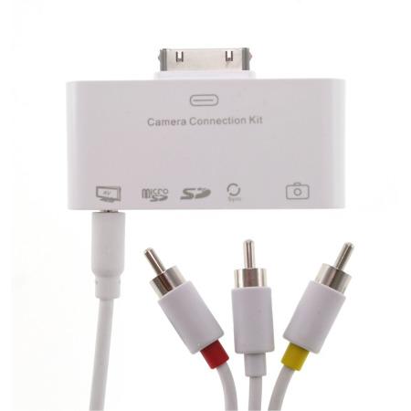 Kit de connexion eKit Appareil photo/Télé/Carte mémoire – iPads et iPhone 4S / 4