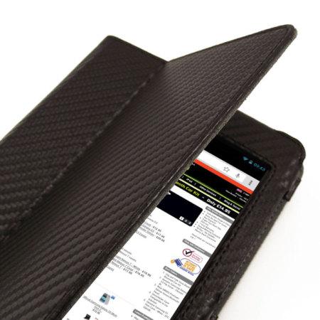 Adarga Stand & Type case Google Nexus 7 2012 - Carbon Fibre Black