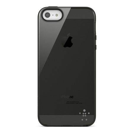 Coque iPhone 5S / 5 Belkin F8W093 Grip Sheer – Noire transparente
