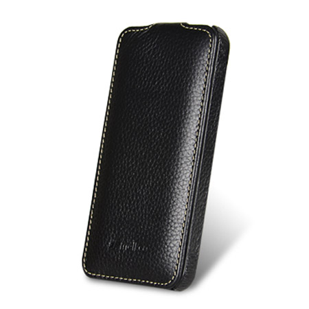 Melkco Leather Flip Case for iPhone 5S / 5 -  Black