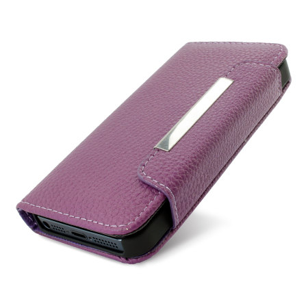iphone 5s wallet leather style wallet for iphone 5s 5 purple 11265