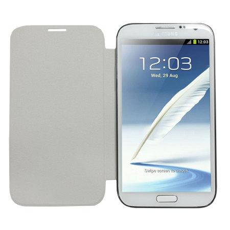 Flip Cover officielle Samsung Galaxy Note 2 EFC-1J9FWEGSTD – Blanche