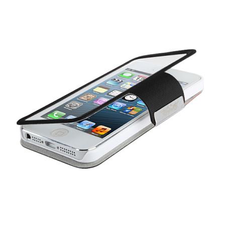 420f3d1a8bd Funda iPhone 5S / 5 con tapa transparente - Negra