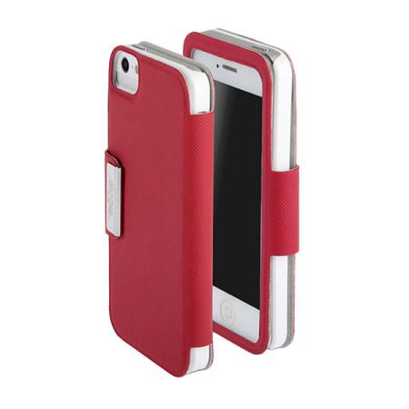 86a460f46d7 Funda iPhone 5S / 5 con tapa transparente - Roja