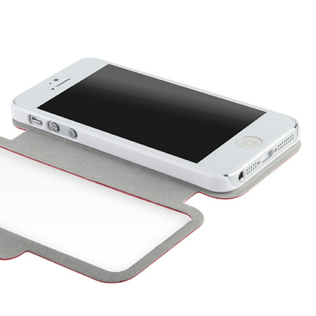 f064763ccee Funda iPhone 5S / 5 con tapa transparente - Roja