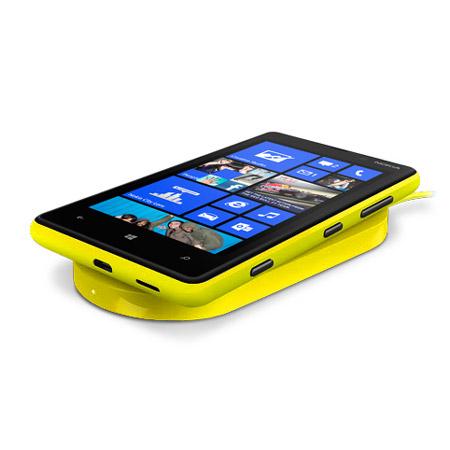 Coque Officielle de chargement Sans Fil Nokia Lumia 820 - Jaune