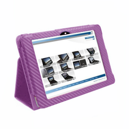 Stand and Type Kindle Fire HD 2012 Case - Purple Carbon