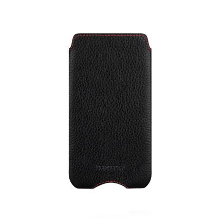 Etui en cuir iPhone 5 Beyza Zero Series - Noir