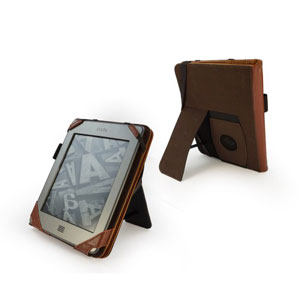 Tuff-Luv Embrace Plus Vintage Leather Case for Kindle Fire HD - Brown
