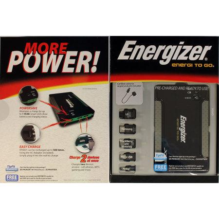 Energizer XP4001 Universal Portable Charger - 4000 mAh