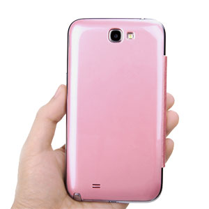 low priced 9fa34 8ac1e ROCK Elegant Side Flip Case for Samsung Galaxy Note 2 - Pink