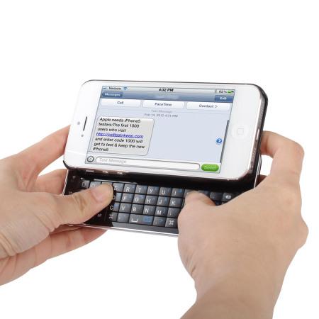 Ultra Dunne Draadloze Keyboard Case voor de iPhone 5S 5 Zwart