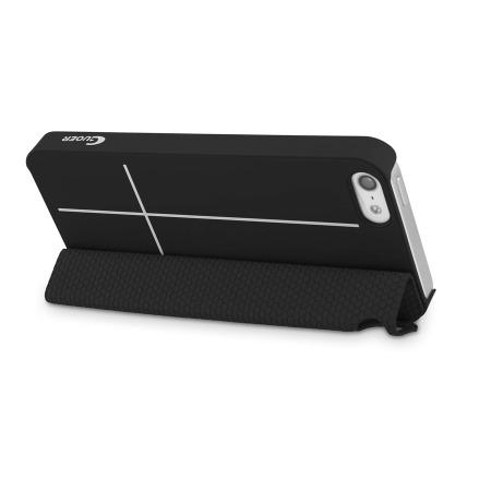 Coque avec Smart Cover Magnétique iPhone 5S / 5 - Noire