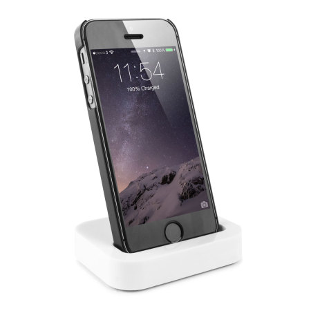 Dock iPhone 5S / 5 Recharge et Synchronise - Blanc