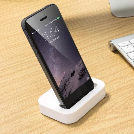 iphone 5 ladestation in wei mobilefun schweiz. Black Bedroom Furniture Sets. Home Design Ideas