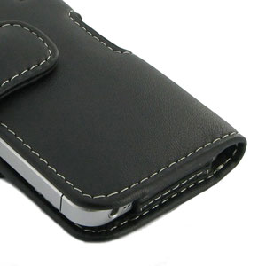 PDair Leather Case for Apple iPhone 5S / 5 Horizontal Pouch - Black