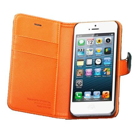 separation shoes b59db 5394e Spigen SGP Illuzion Wallet Case for iPhone 5S / 5 - Black/Orange