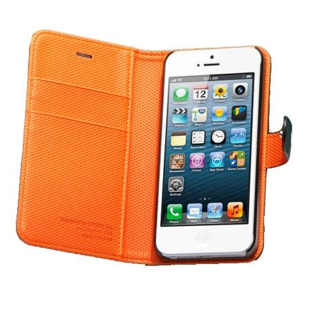 spigen sgp illuzion wallet case for iphone 5s 5 black orange reviews comments. Black Bedroom Furniture Sets. Home Design Ideas