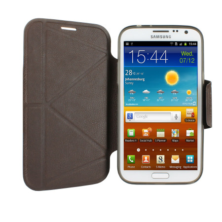 Momax The Core Smart Case for Samsung Galaxy Note 2 - Brown