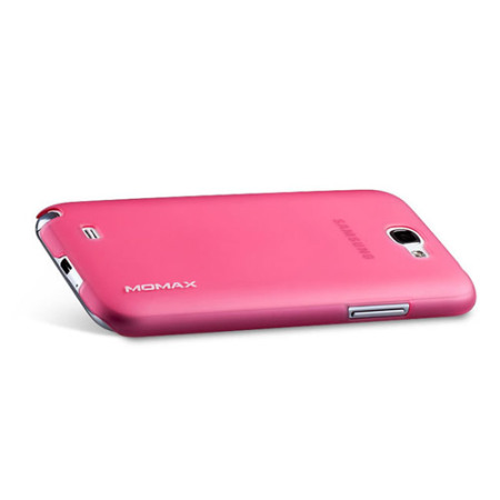 Momax Ultra-Thin Clear Touch Case for Galaxy Note 2 - Pink