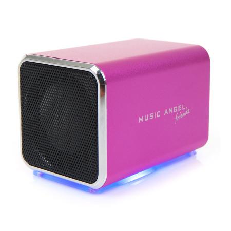 Music Angel Friendz Portable Stereo Speaker - Pink