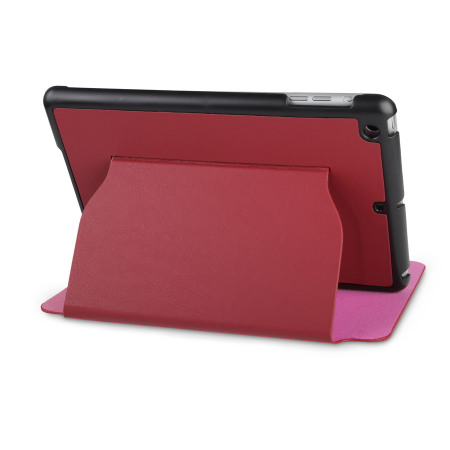 iPad Mini 3 / 2 / 1 Ultra-Thin Leather Case with Stand - Red