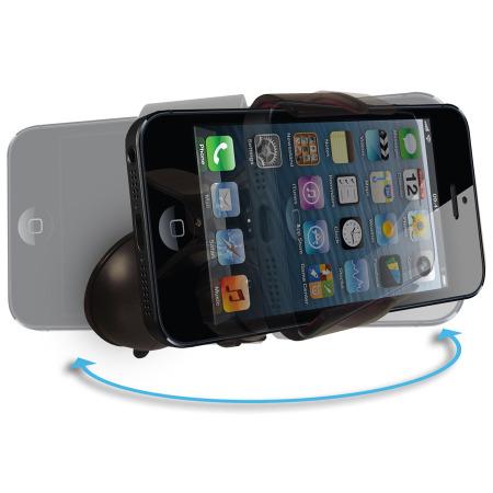 Support Voiture iPhone 5S / 5C / 5 GripMount avec Chargeur Lightning